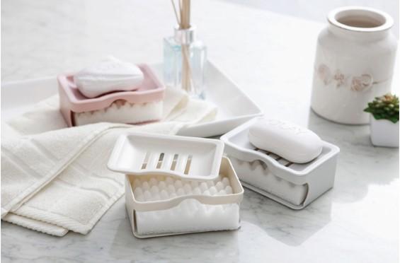 簡約質感雙層海綿皂盒 1