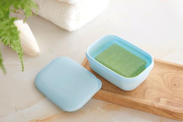旅游密封香皂盒創意旅行洗臉皂盒(附瀝水盤) 1